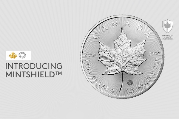 Mintshield technologie voor zilveren Maple Leaf munten