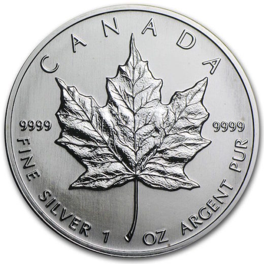 1991 zilveren Maple Leaf (vk)