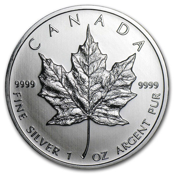 2001 zilveren Maple Leaf (vk)