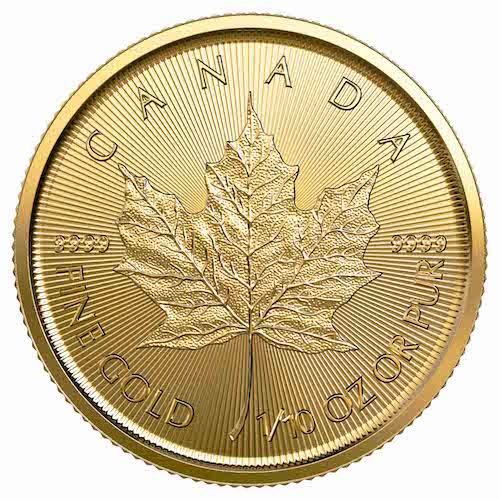 2020 1/10 troy ounce gouden Maple Leaf (vk)
