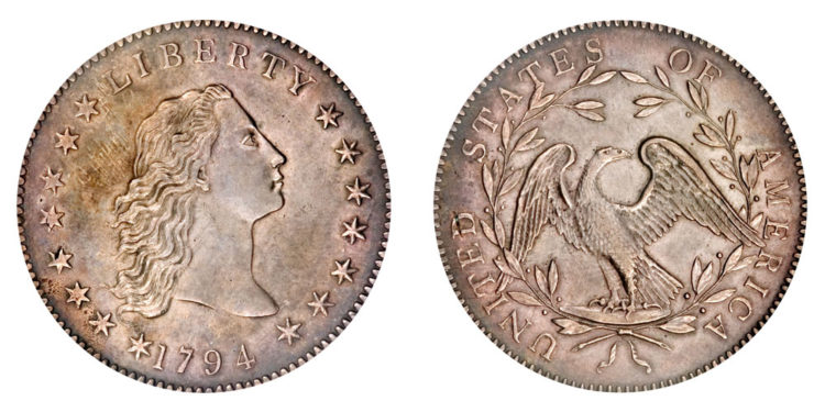 Flowing Hair silver copper dollar