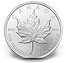 Bullion producten palladium Maple Leaf munten