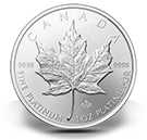 Bullion producten platina Maple Leaf munten